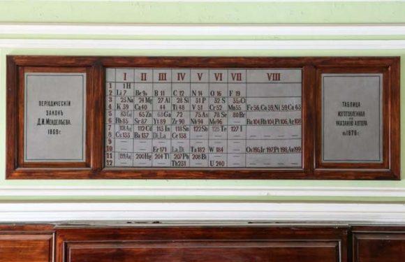 Старейшая таблица Менделеева находится в России